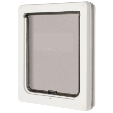 Medium Dog Door (White) - Dog Mate