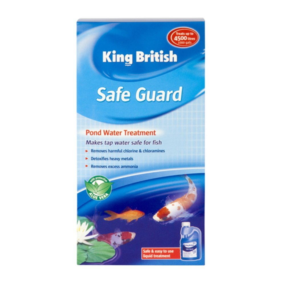 King british safe guard fish pond tap water treatment for How to make tap water safe for fish