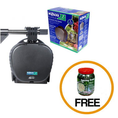 Hozelock Automatic Fish Feeder with Free Spring Fish Food