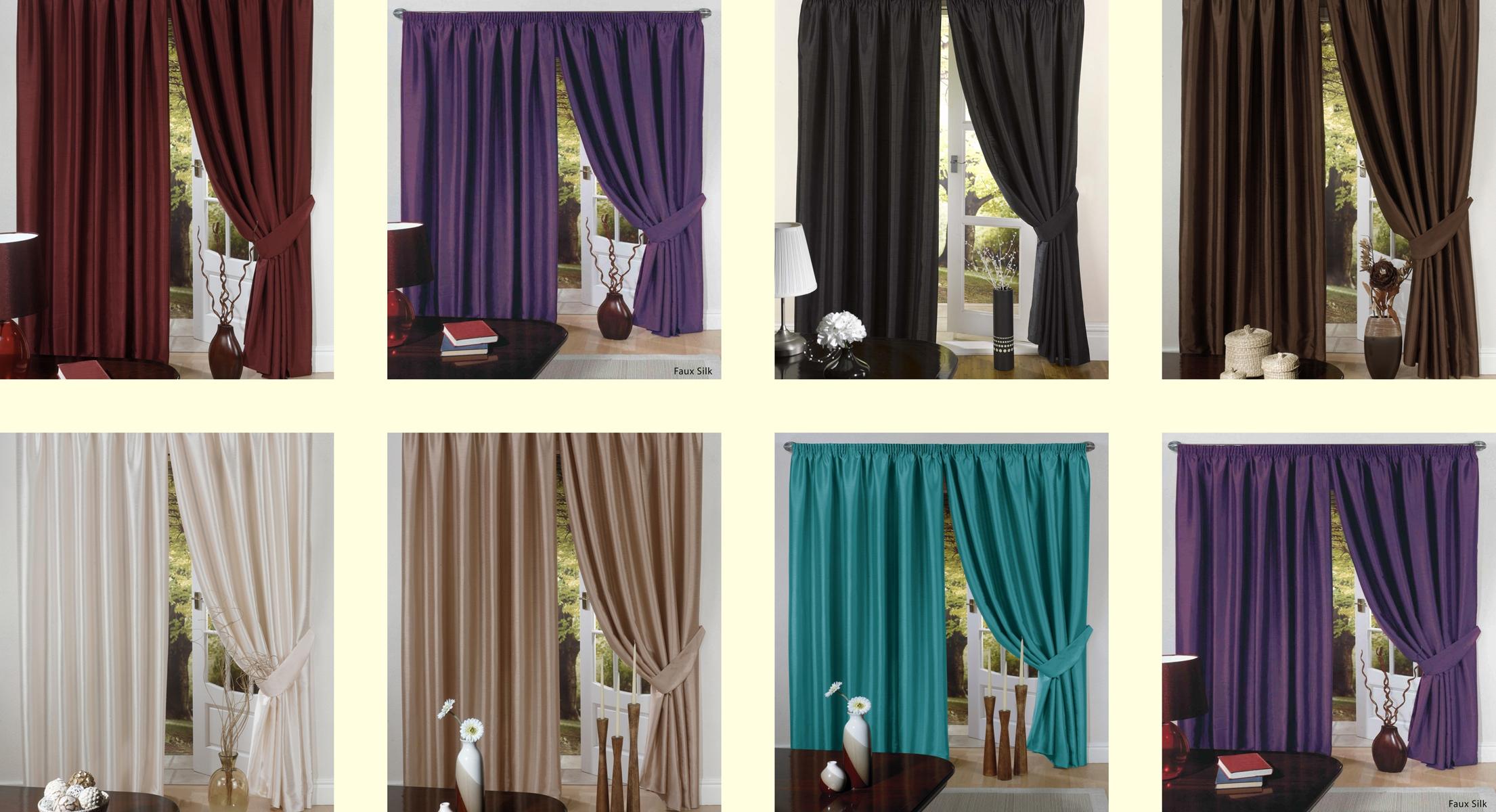 Luxus Kunstseide Vorhang Gebrauchsber.Dünne Falten Futter Raffhalter Oben: Band  eBay