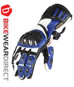 Texpeed Blue White & Black Leather Gloves