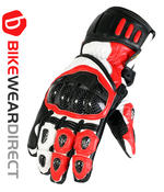 Texpeed Red White & Black Leather Gloves