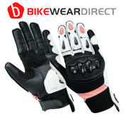 Texpeed Womens Black & Pink Short Cuff Gloves