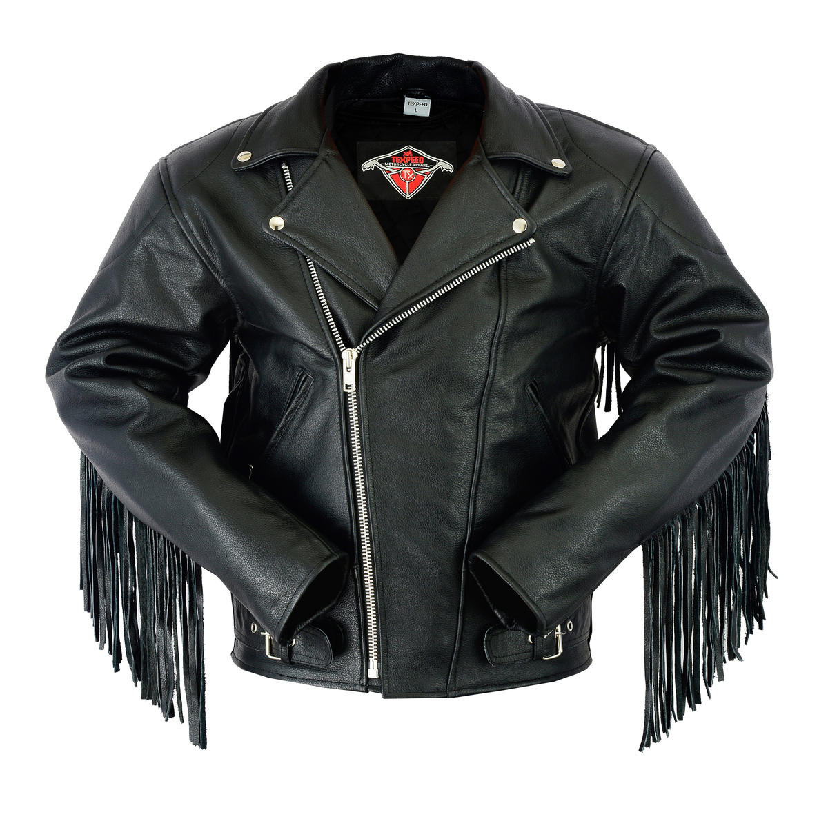 Texpeed Mens Leather Brando Jacket