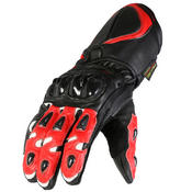 Texpeed Red & Black 4 Knuckle Leather Gloves