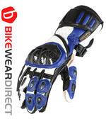 Texpeed Blue White & Black Leather Gloves
