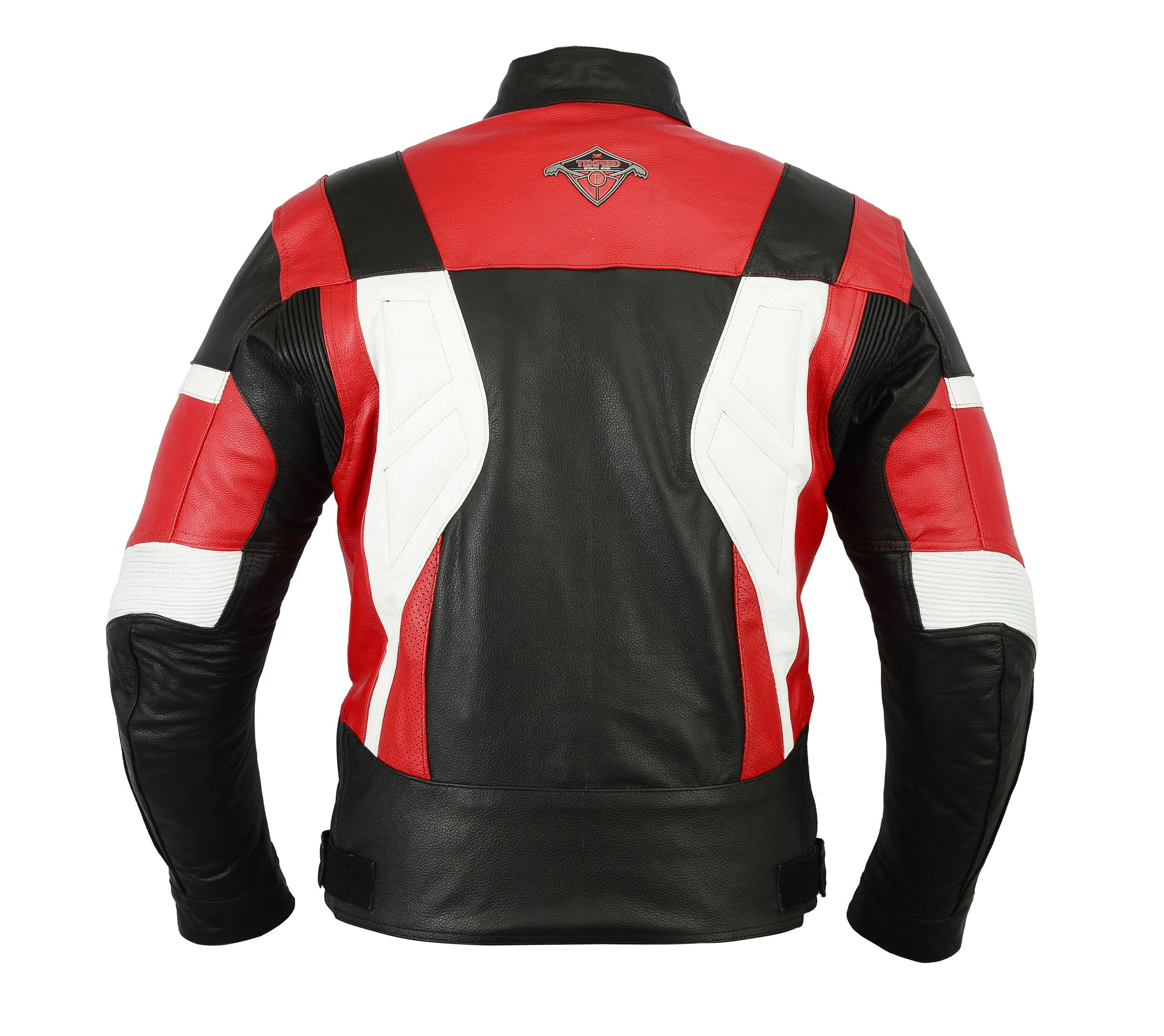 Franklin Leather Motorbike Jacket Vented Motorcycle Coat with Armours
