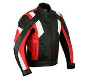 Leather Motorbike Jacket Sports Racing Motorcycle Biker With CE Protect Armour