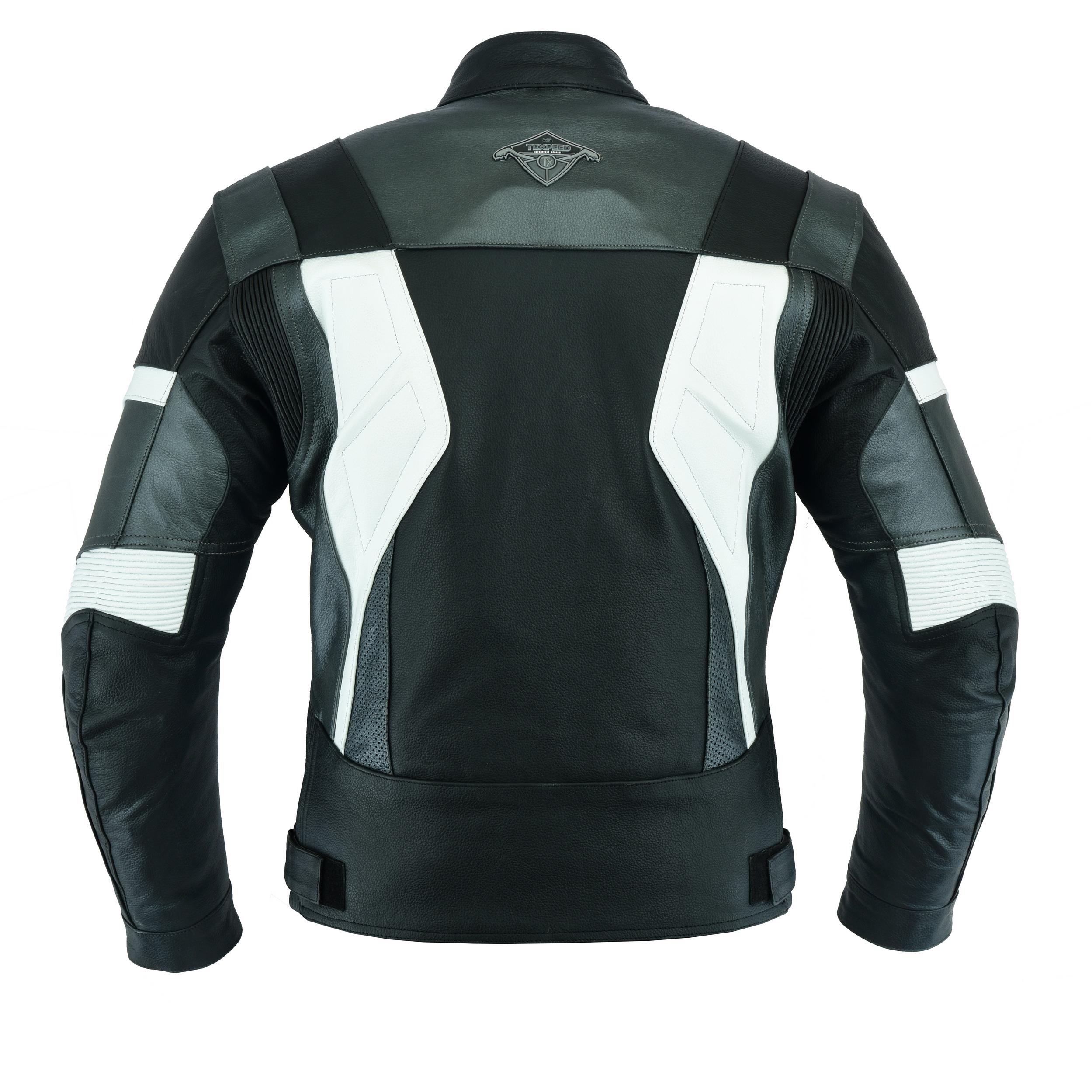cuir noir//trois coloris Texpeed Veste de moto Pro pour homme avec protections amovibles