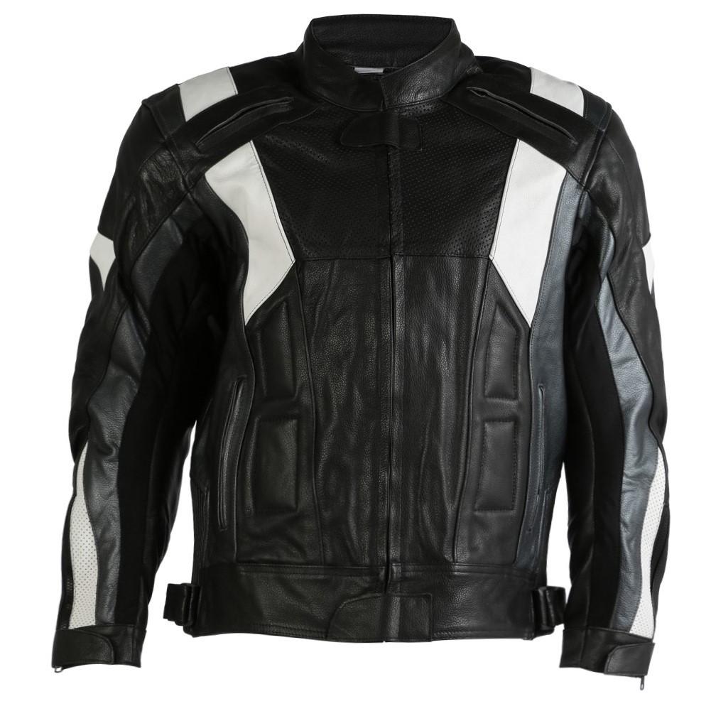 Texpeed Mens Bavari Leather Racing Jacket