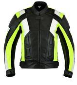 Texpeed Mens Lumino Leather Racing Jacket