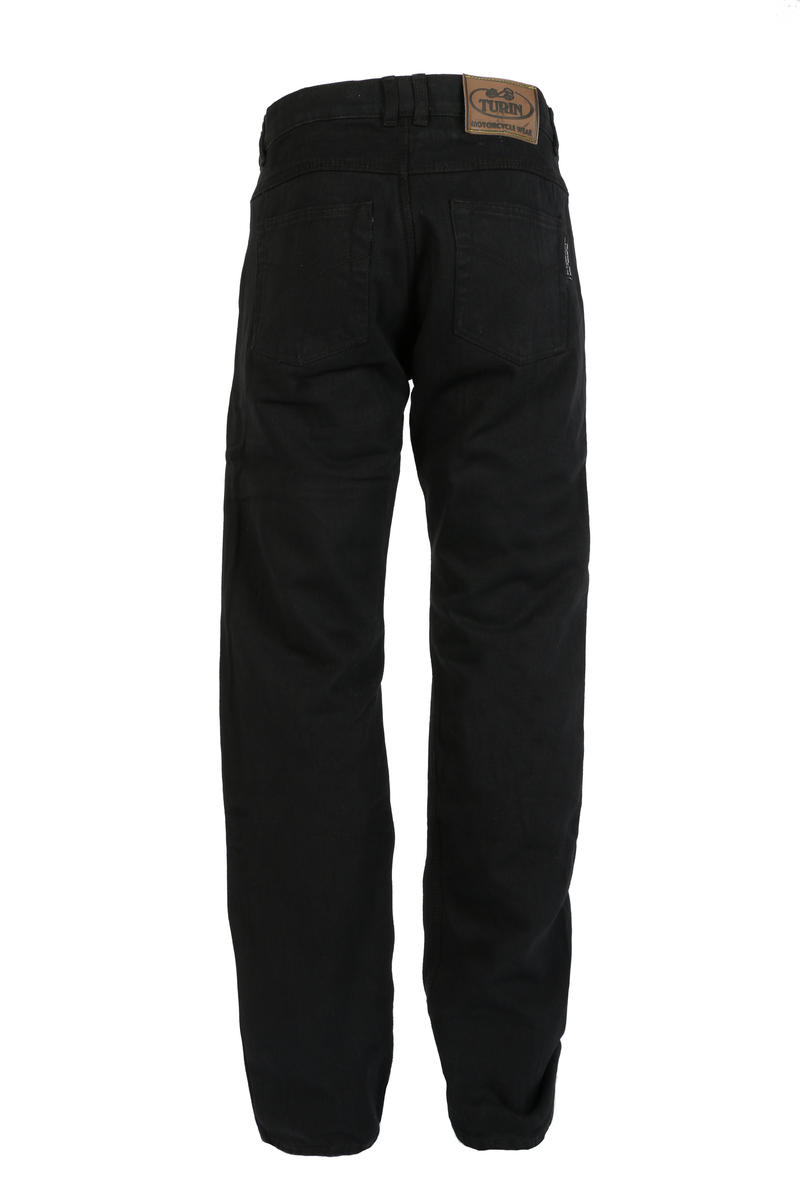Turin Motorcycle Wear Black Denim Protective Aramid Lined Trousers