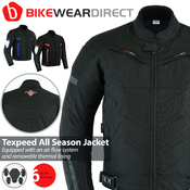 Texpeed Black Short Vented Motorcycle Jacket
