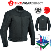 Texpeed Black Short Vented Mesh Motorcycle Jacket