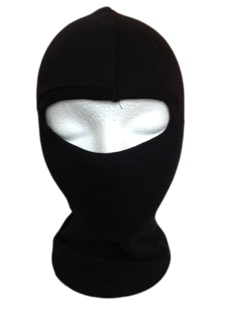 Texpeed Black Cotton Balaclava