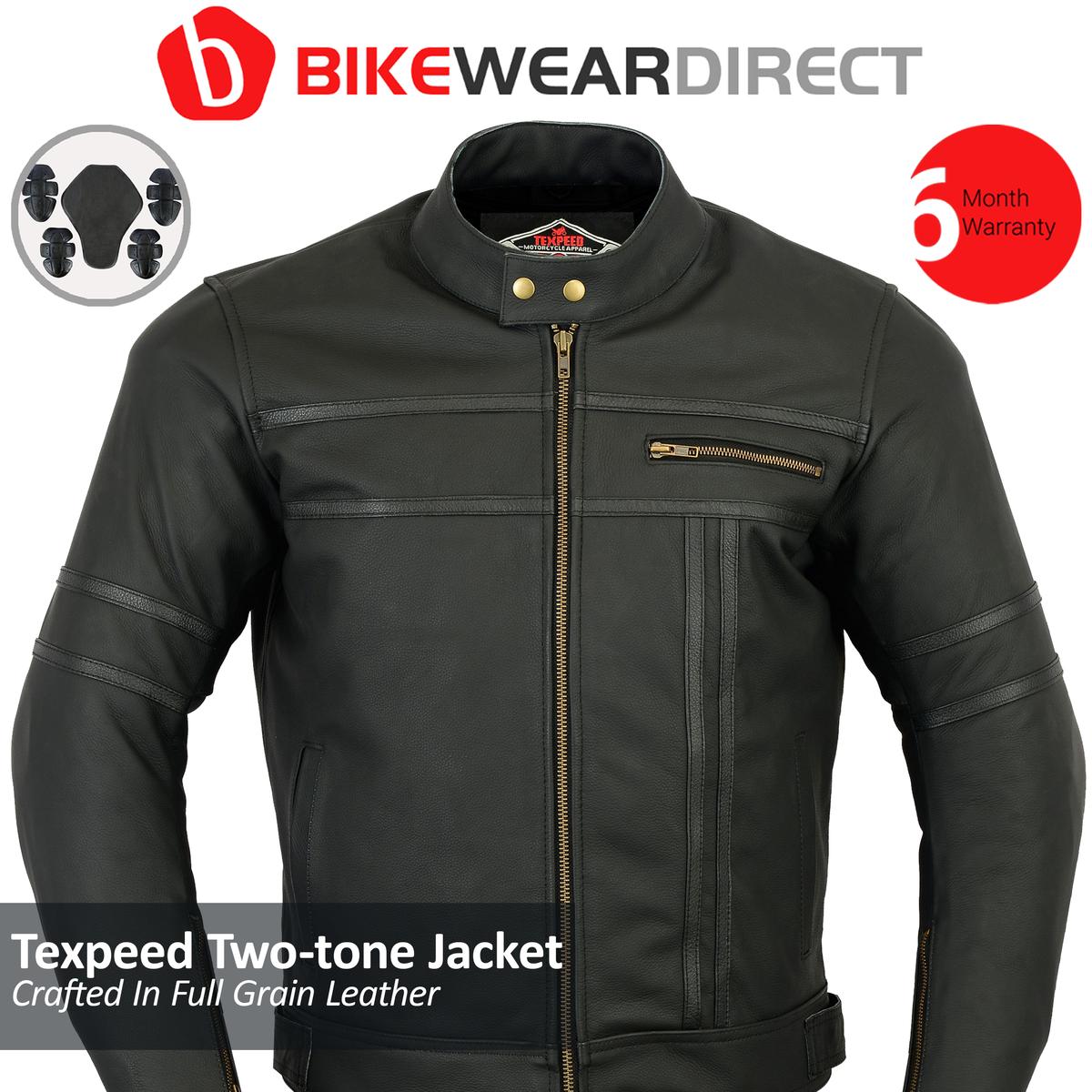 Texpeed Two Tone Leather Racing Jacket