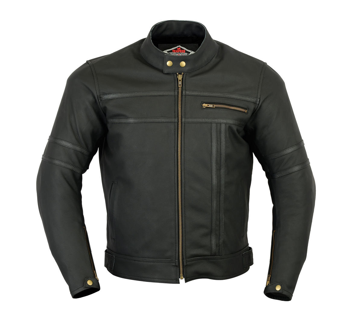 Leather Motorbike Jacket Motorcycle Biker With CE Protect Armour Thermal Lining