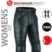 Texpeed Ladies Leather Motorcycle Pants