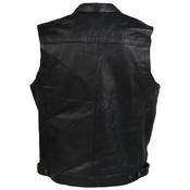 Leather Sons Of Anarchy Style Motorcycle Motorbike Waistcoat SOA Vest Cut