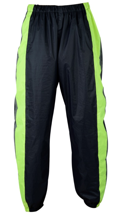 Texpeed Black / Hi-Vis Elasticated Waterproof Over Trousers