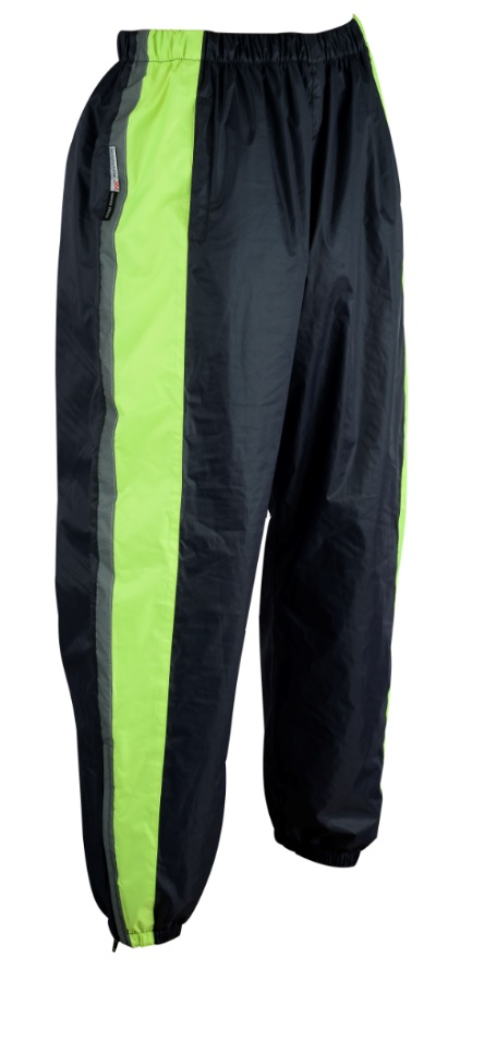 Waterproof Rain Trousers Motorcycle Motorbike Cycling Biker Hi-Vis Visibility