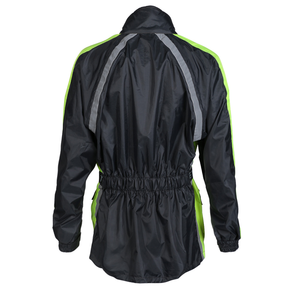 Waterproof Hi Vis Yellow Visibility Motorbike Over Jacket Motorcycle Rain Biker