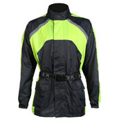 Texpeed Black / Hi-Vis Elasticated Waterproof Over Jacket
