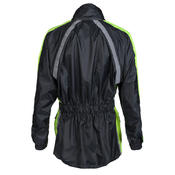 Waterproof Hi Vis Yellow Visibility Motorbike Over Jacket Motorcycle Rain Biker