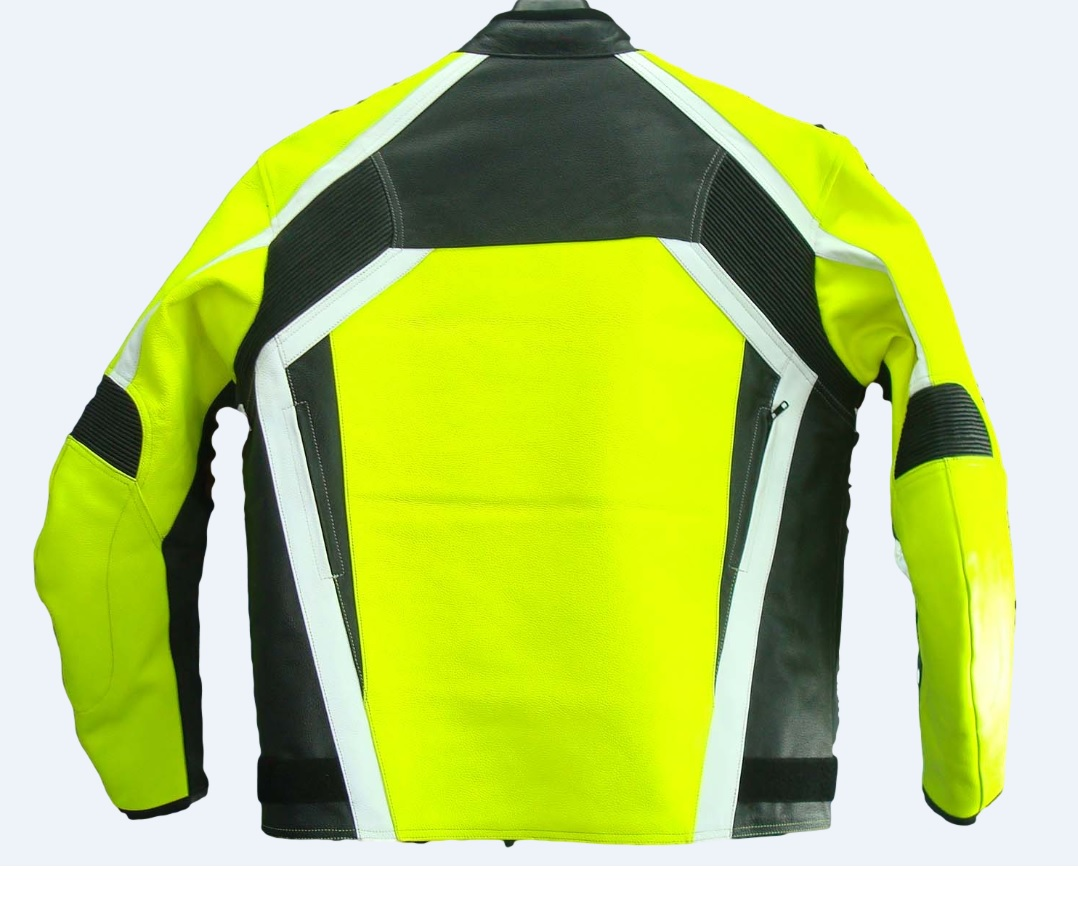 Texpeed Mens Leather Hi-Vis Racing Jacket. 36% Off 7823f9590