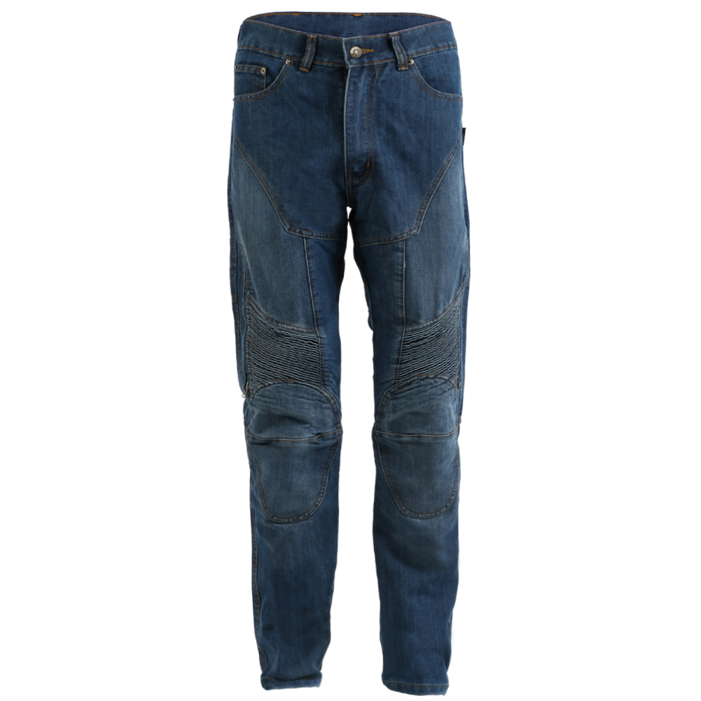 Motorbike Motorcycle Blue Denim Trousers Biker CE Armour With Aramid Lining