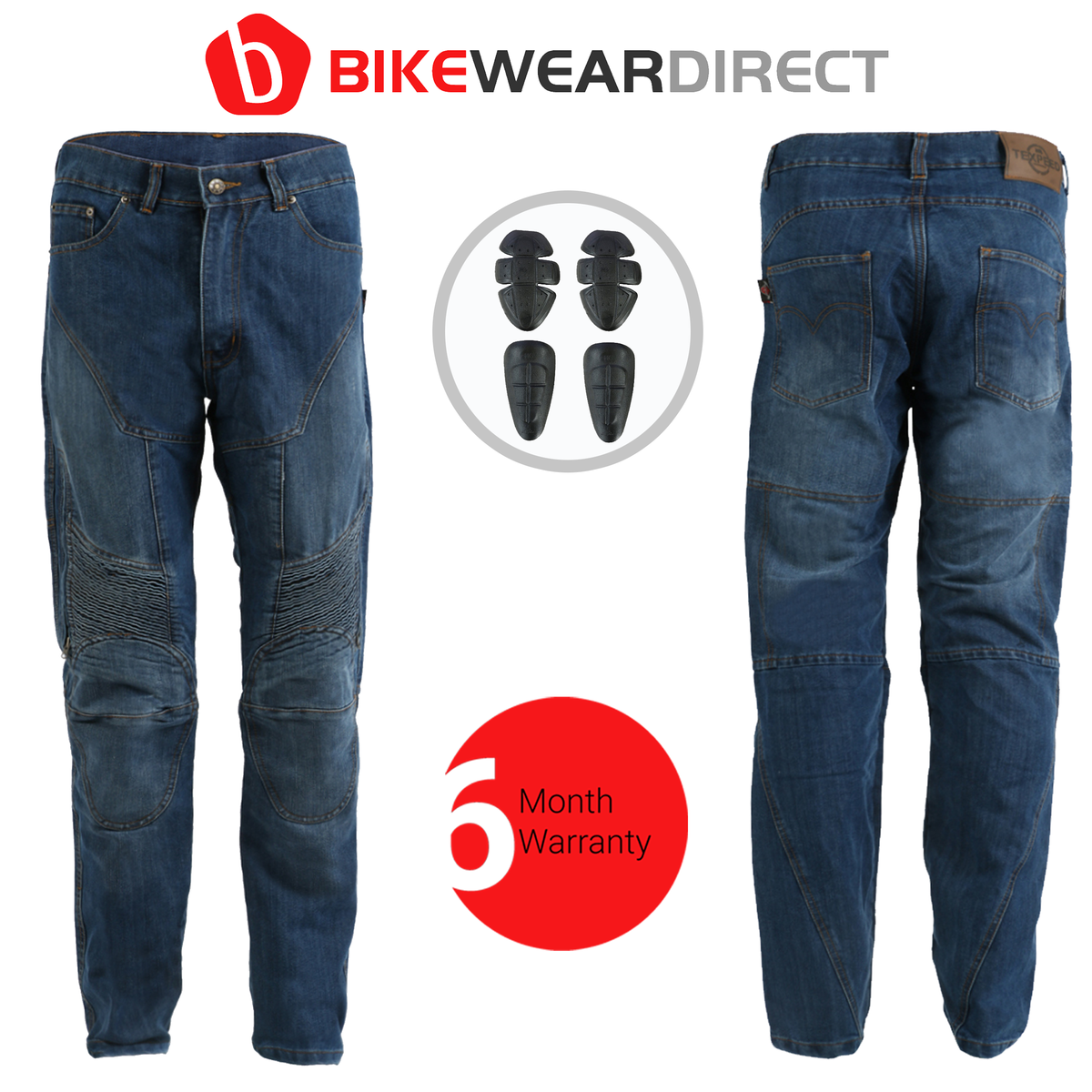 Texpeed Blue Denim Kevlar Trousers