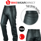 Texpeed Black Leather Trousers