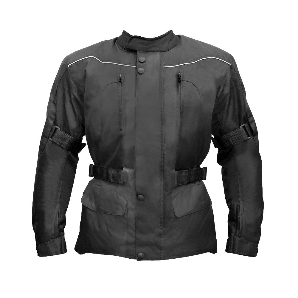 All Black Basics Waterproof Armoured Jacket