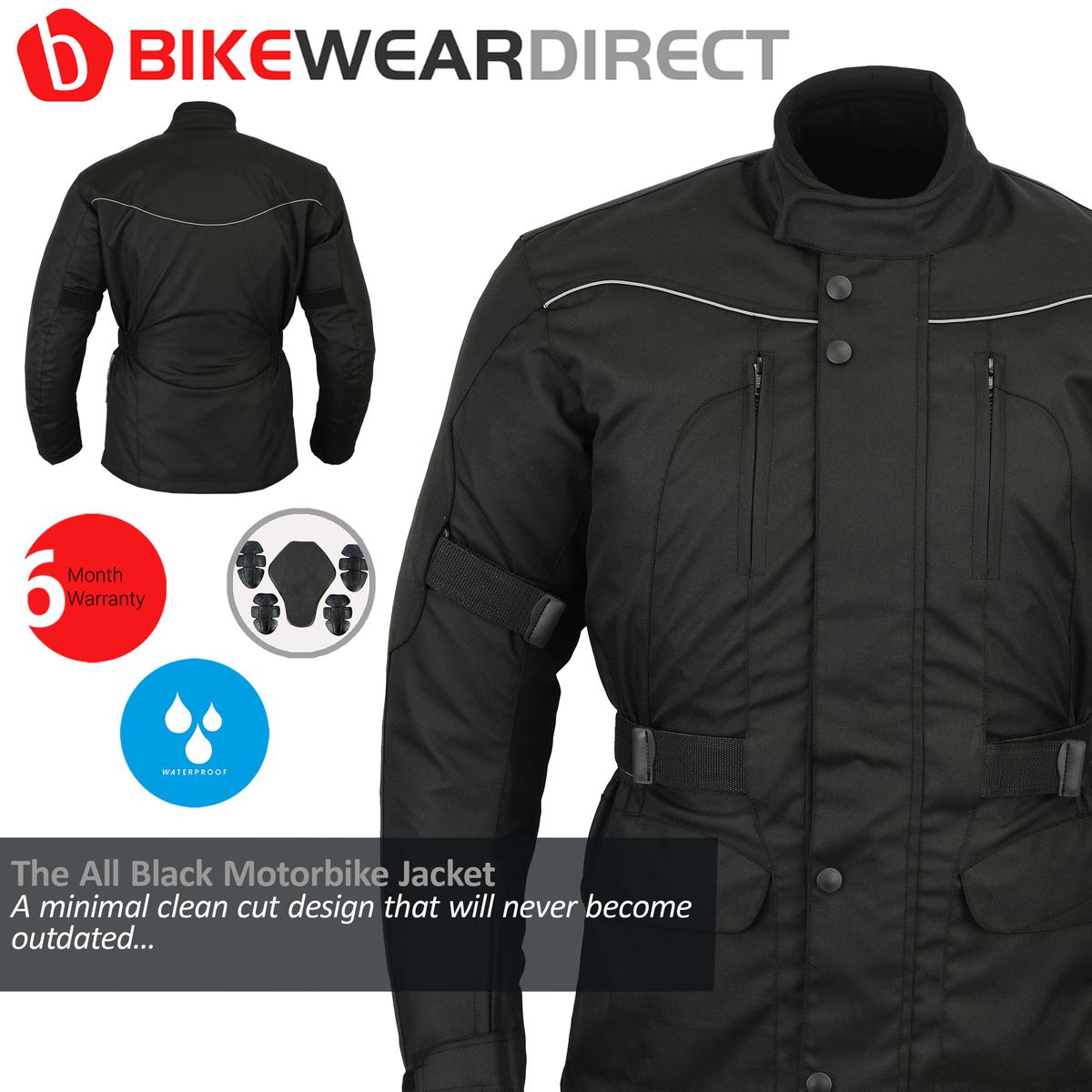 All Black Basics Waterproof Armoured Jacket