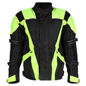 Turin Black / Hi-Vis Waterproof CE Approved Jacket