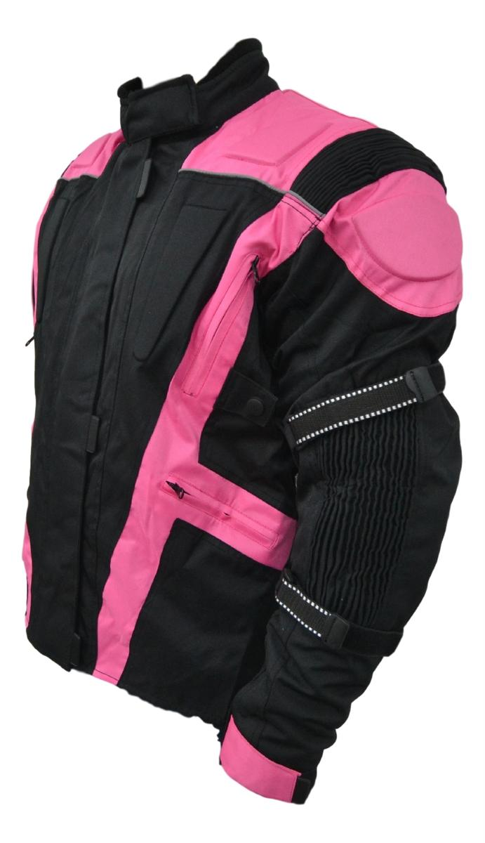 Womens Ladies Motorbike Motorcycle Jacket With Armour Waterproof Protection