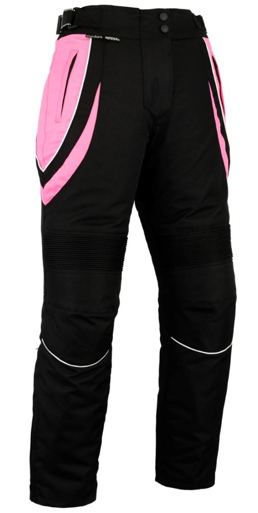 Womens Ladies Waterproof Motorbike Trousers With CE Armour Motorcycle Black