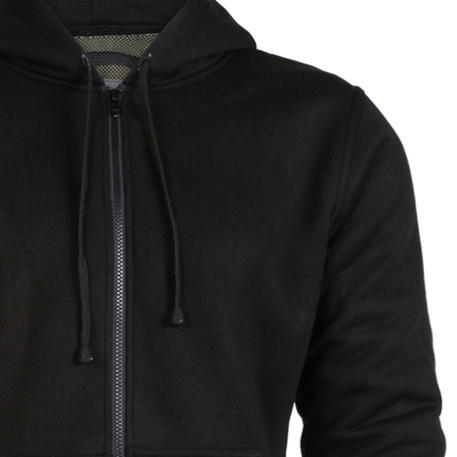 Womens All Black CE Armoured Motorcycle Hoody With Protective Reinforced Lining