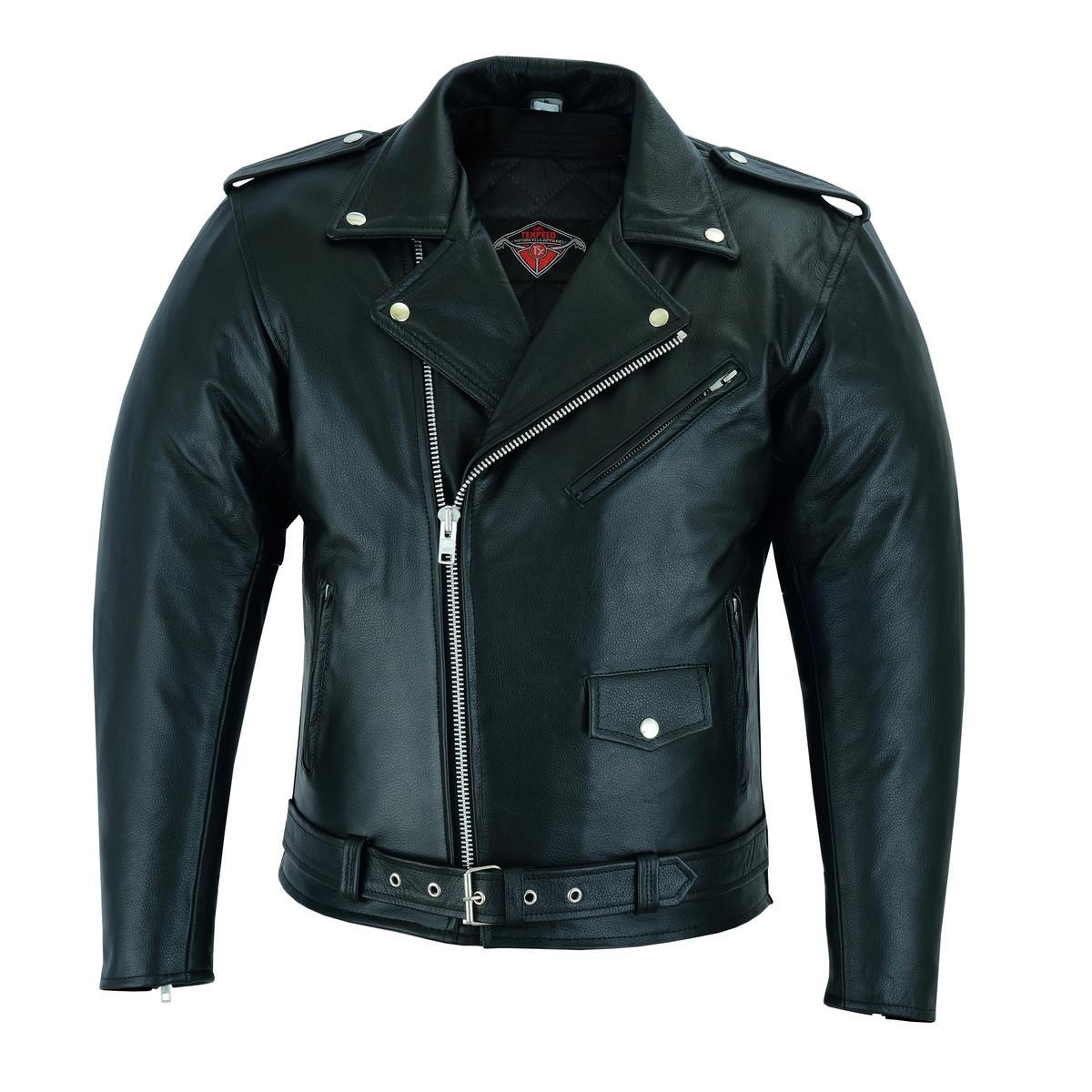 Leather Brando Motorbike Jacket Marlon Biker Motorcycle Perfecto With CE Armour