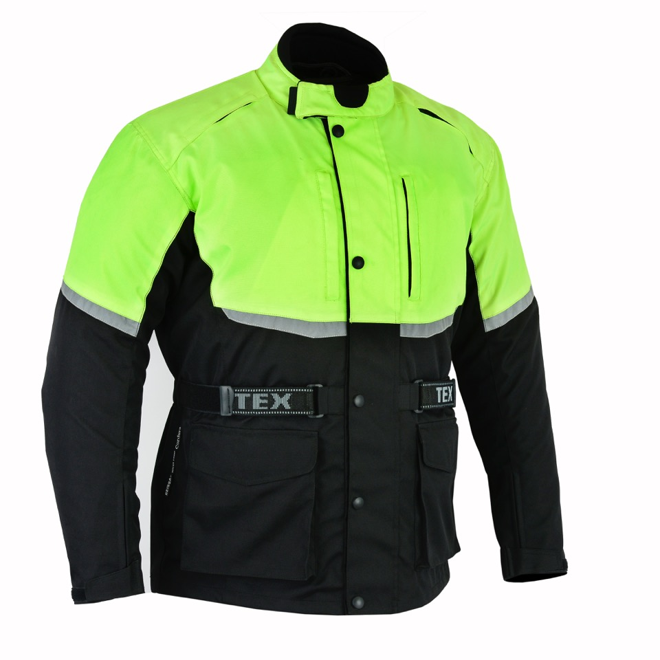 Texpeed Black   Hi-Vis Short Length Armoured Jacket  3f6b88695