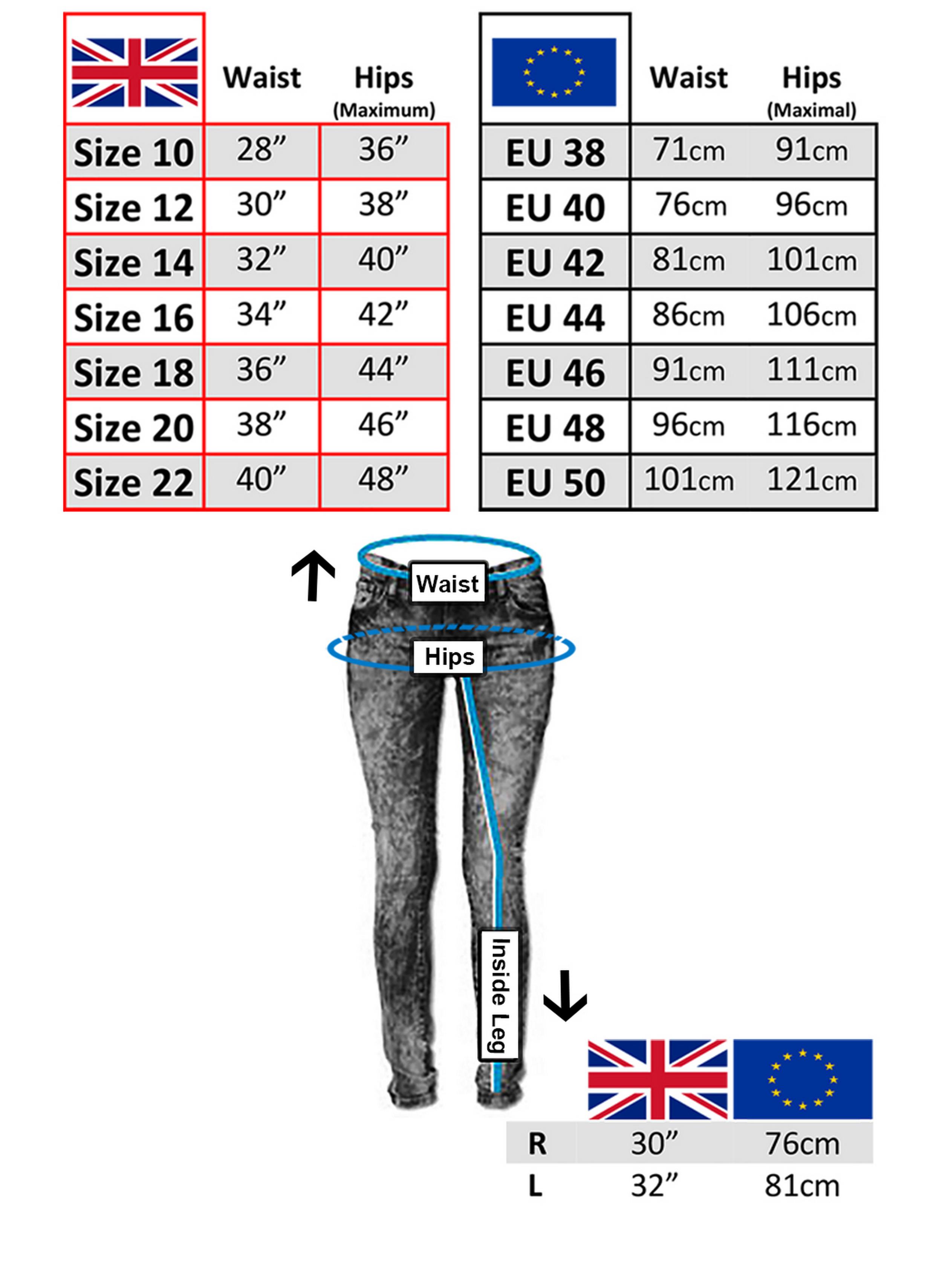 Bikers Gear Australia Limited Kevlar foderato leggings con rimovibile CE Armour moto di donna taglia 10 nero