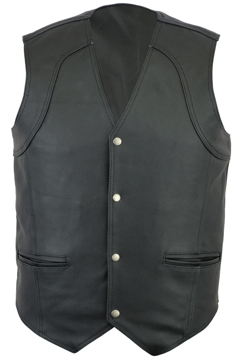 Quality Genuine Leather Waistcoat Motorbike Biker Mens Motorcycle Vest Casual