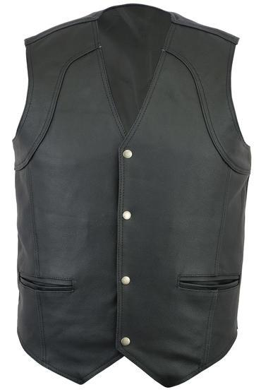 Quality Genuine Leather Waistcoat Motorbike Biker Mens Motorcycle Vest Casual