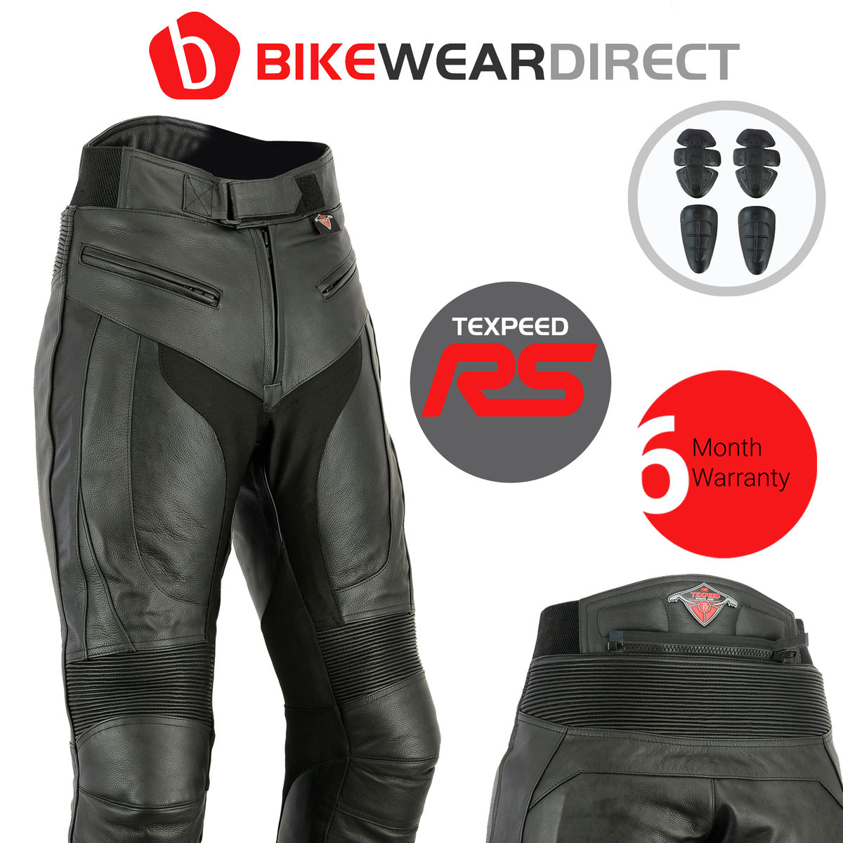 Texpeed Mens RS Sports Racing Leather Trousers