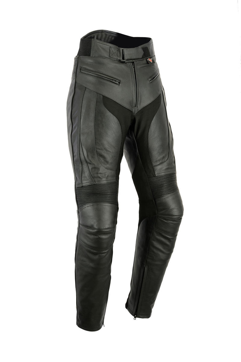 Leather Motorbike Motorcycle Trousers Sports Biker Mens Racing With CE Armour
