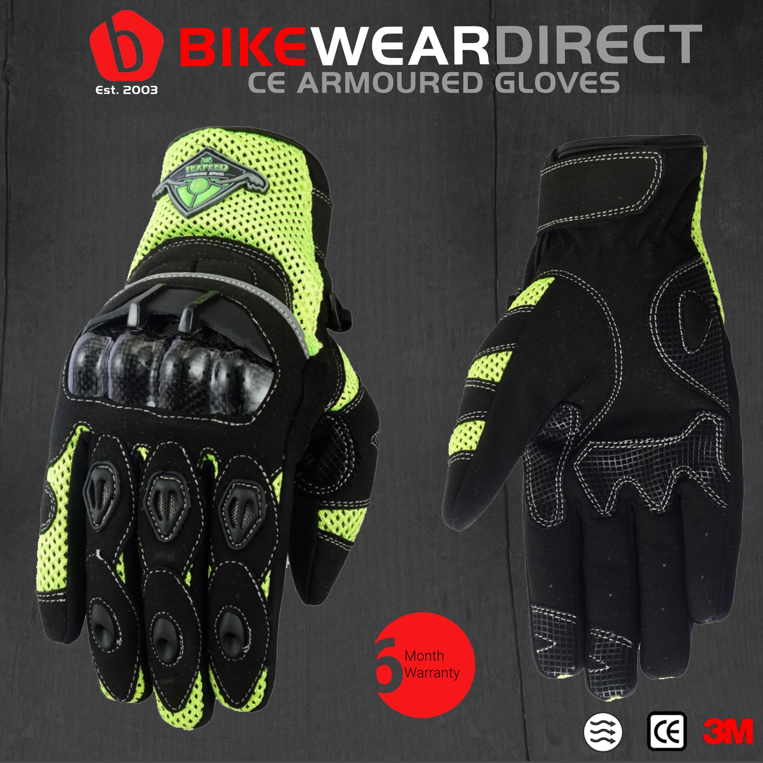 renforc/és//taille courte au poignet Texpeed 7-7,5cm S noir Gants de moto en cuir