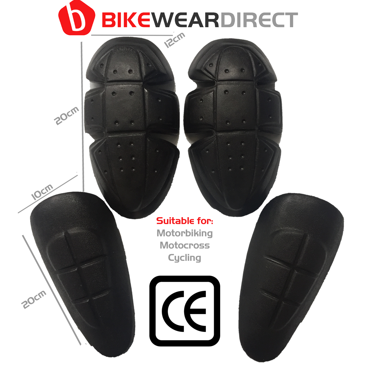 (BLK-ARM-TROUS) Motorbike Motorcycle Trouser Trousers Protection Armour Knee Hip Pads CE Approved