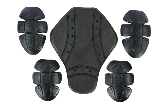 Black CE Approved L1 Flexible Motorcycle / Motorbike Jacket Armour