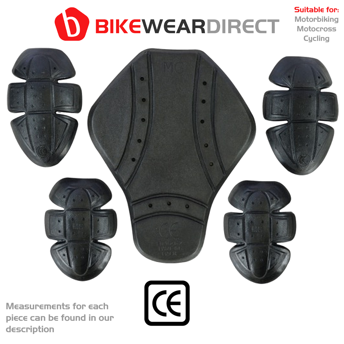 (BLK-ARM-JKT) Motorbike Motorcycle Jacket Hoodie Protect Armour Elbow Shoulder Pads CE Approve