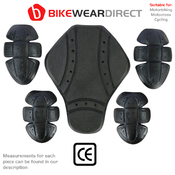 Motorbike Motorcycle Jacket Hoodie Protect Armour Elbow Shoulder Pads CE Approve